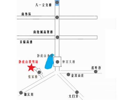 济南卧虎山滑雪场地理位置