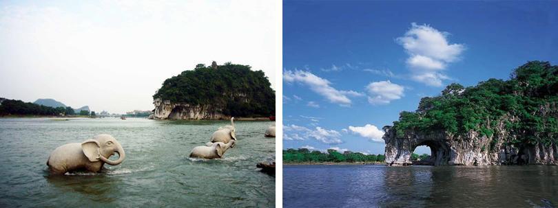 是桂林名山之一;主要景点有水月洞