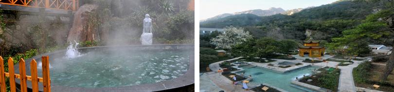 黄山飘雪温泉实景欣赏
