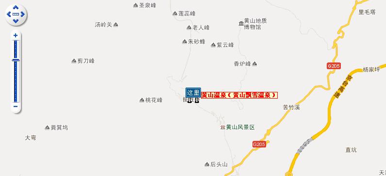 黄山飘雪温泉地图