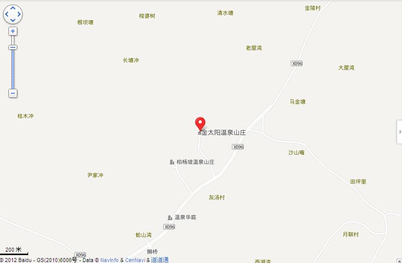 长沙宁乡金太阳温泉自驾游路线图