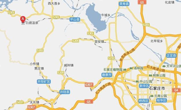 白鹿温泉自驾车行车线路图