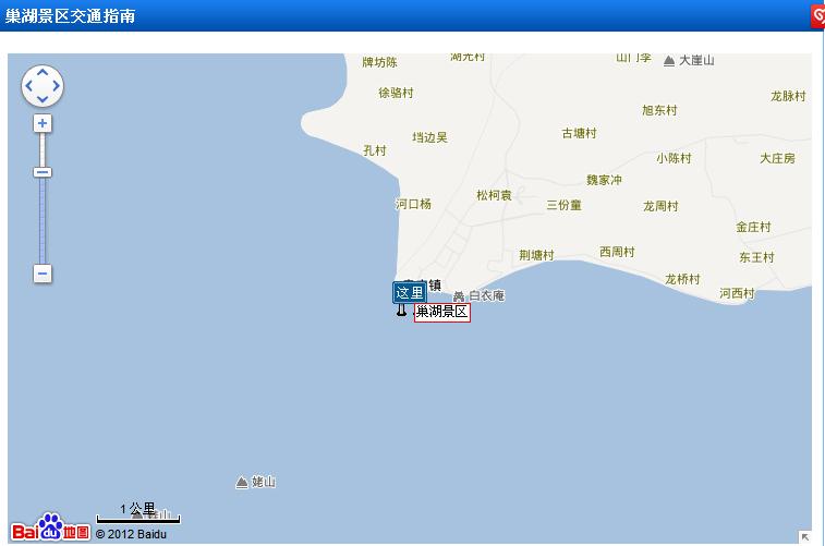 安徽巢湖金孔雀温泉自驾路线图