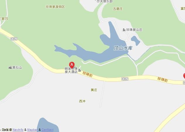 珍珠泉景区自驾图