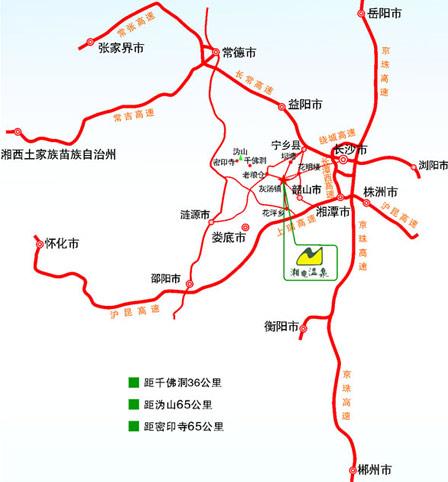 湘电灰汤温泉自驾路线图