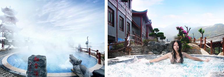 景区地址:西安市蓝田县汤峪镇汤峪温泉旅游度假区 2.