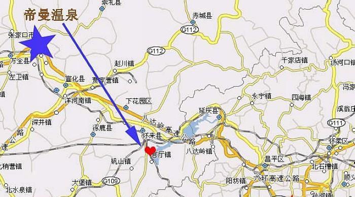 帝曼温泉地图