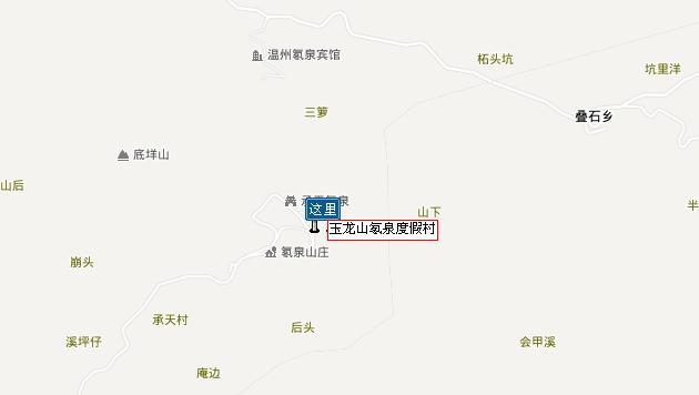玉龙山氡泉地图