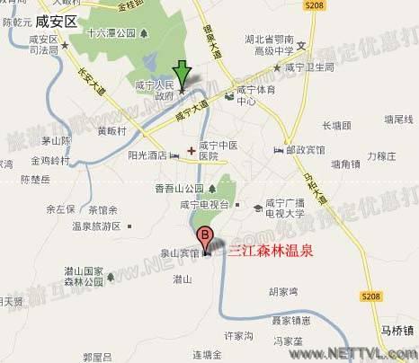 三江森林温泉自驾路线图
