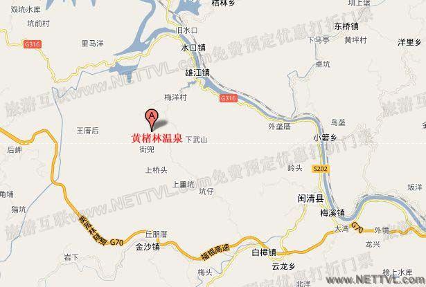 黄楮林温泉实景自驾路线图