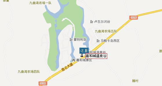 广西南宁嘉和城温泉地图