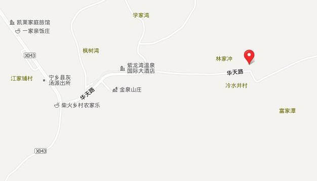 长沙宁乡灰汤华天城温泉交通地图展示