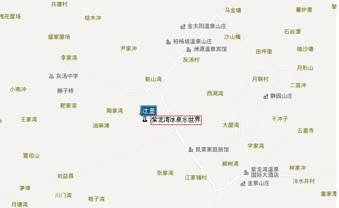 紫龙湾温泉实自驾路线图