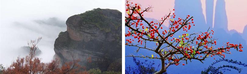 江郎山的风景迷倒了许许多多的中外游客.