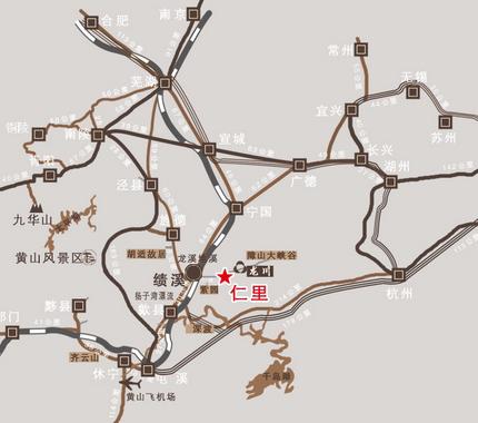 绩溪龙川风景区地图