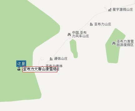 亚布力大青山滑雪场自驾路线图