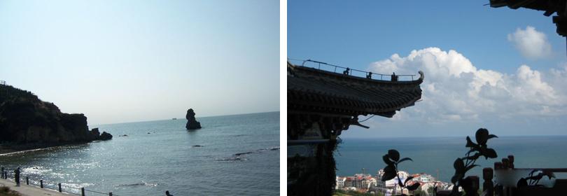 石老人观光园处于青岛市区至崂山风景区的必经之路 ,大唐渔宴以东