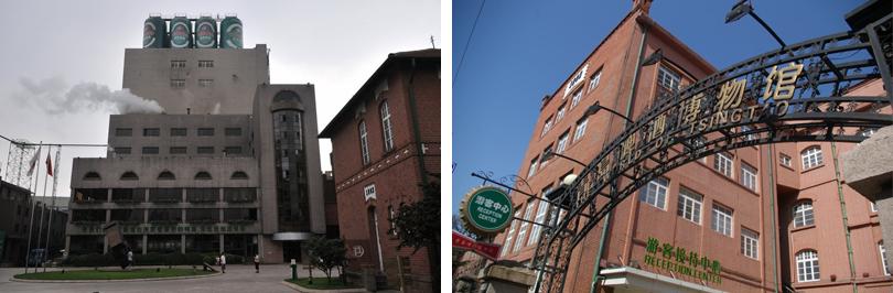 a线是青岛啤酒博物馆,以百年老建筑为依托,融合古老的建筑,珍贵典藏和