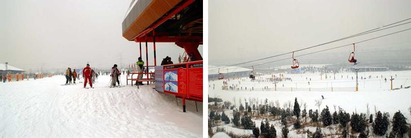 军都山滑雪场实景欣赏