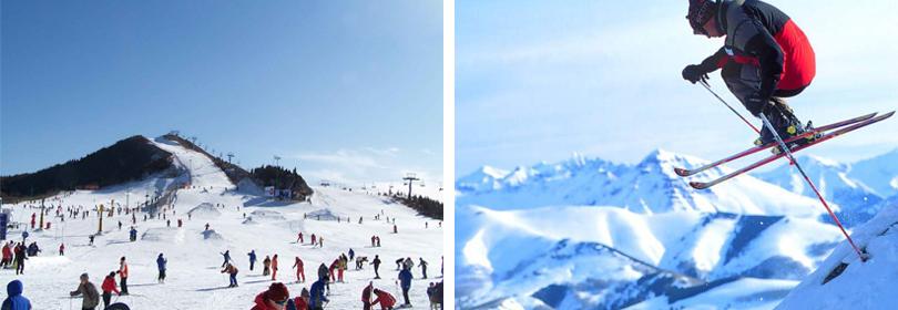 天津蓟州国际滑雪场实景欣赏
