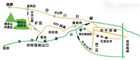 清凉山滑雪场自驾路线图