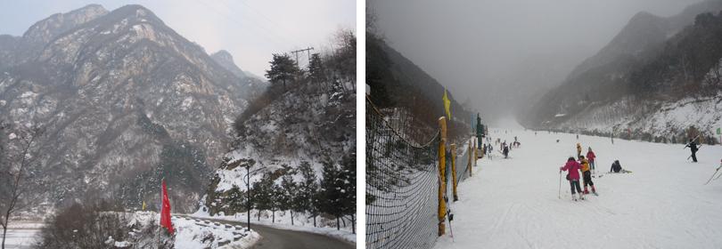 翠华山滑雪场实景欣赏