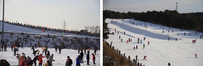棋盘山滑雪实景欣赏
