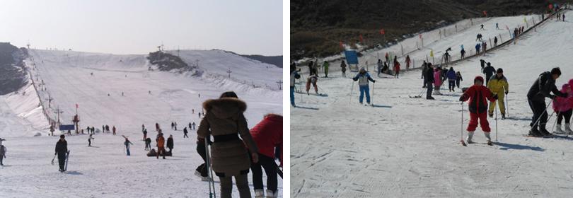 盘山国际滑雪场实景欣赏