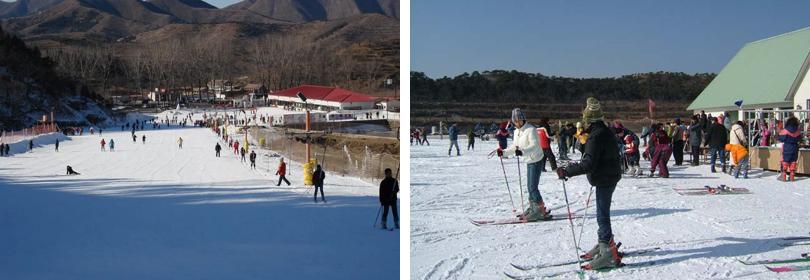 蓟县玉龙滑雪场实景欣赏