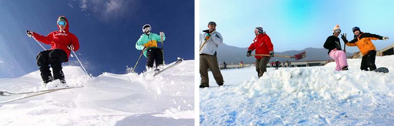 云居滑雪场实景欣赏