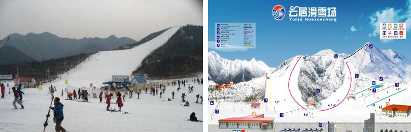 云居滑雪场实景图片