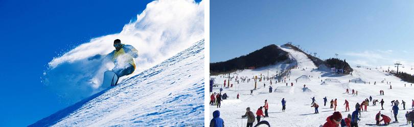 莲花山滑雪场实景欣赏