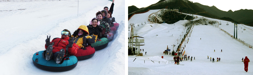 莲花山滑雪场实景图片