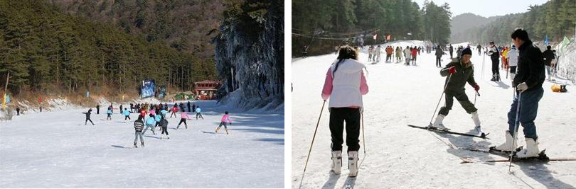 玉华宫滑雪场门票团购滑雪实景