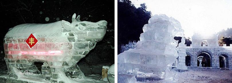 玉华宫滑雪场门票团购冰雕实景