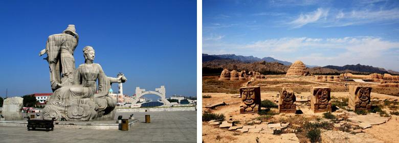 西夏王陵实景图片