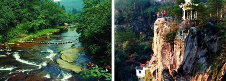天台天湖风景区地处于浙江台州市的天台县