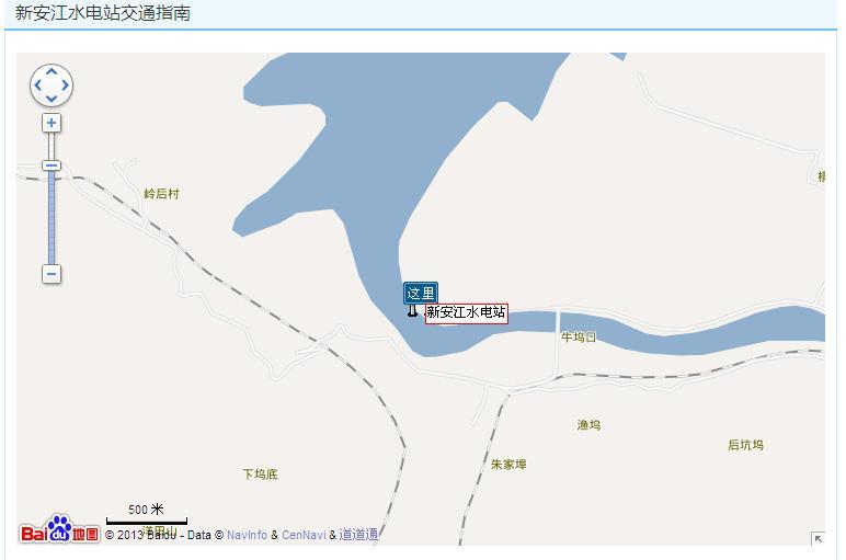 新安江水电站景区地图展示
