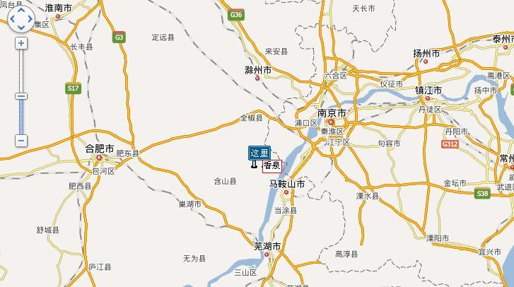 巢湖香泉温泉度假村交通示意图
