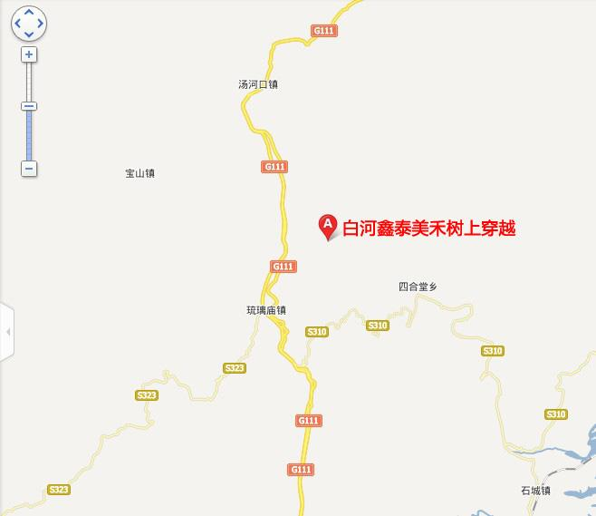 陕西白河县城地图