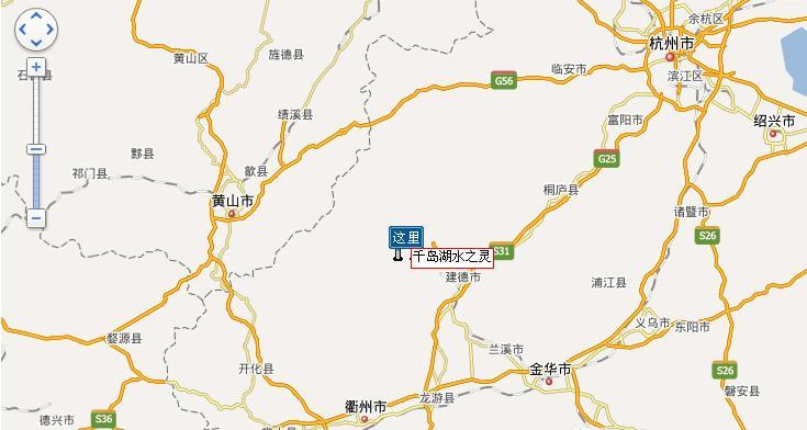 黄山屯溪---桃林---205国道---霞山--汾口---淳开公路---千岛湖