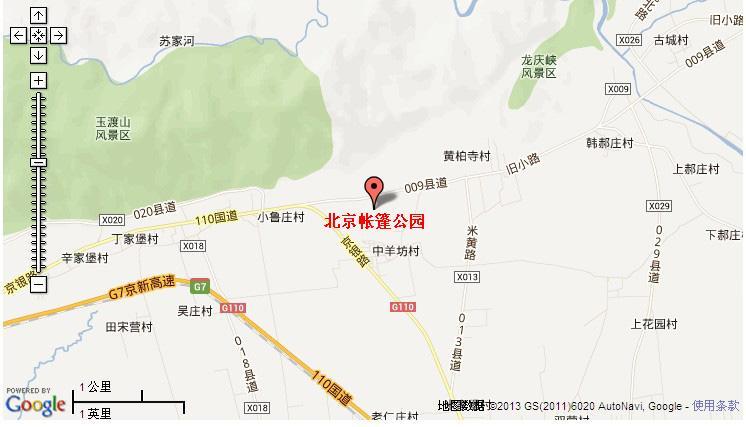 北京帐篷公园地图展示