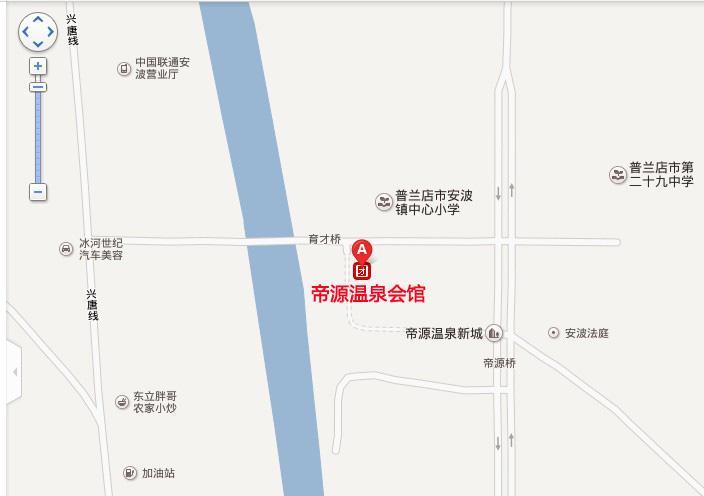 帝源温泉会馆地图展示
