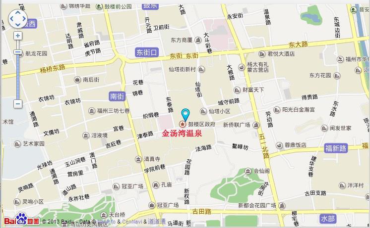 金汤湾温泉地图展示