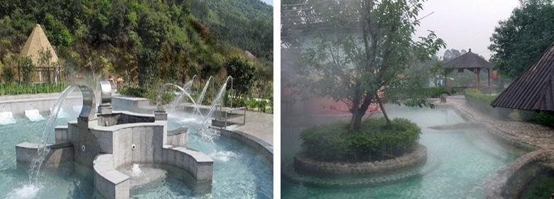 云髻山温泉实景图片