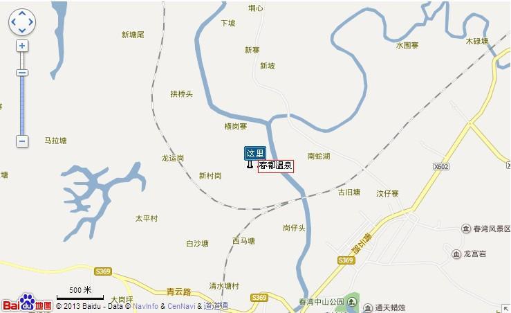 春都温泉地图展示