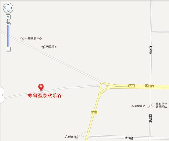 林甸温泉欢乐谷地图展示