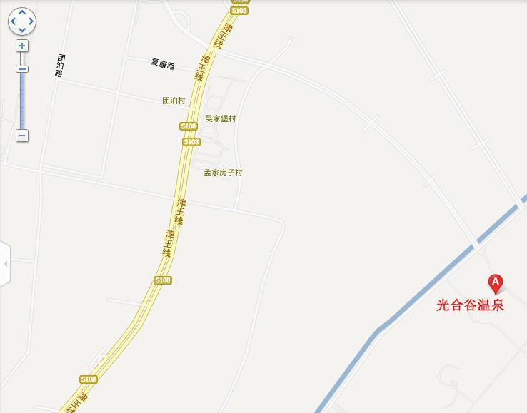 光合谷温泉地图展示