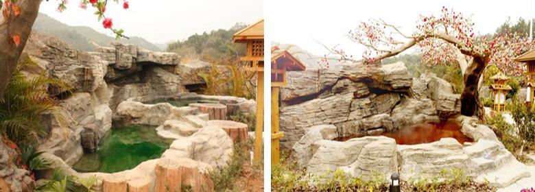 叶园温泉实景图片