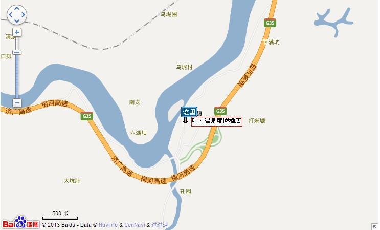 叶园温泉地图展示